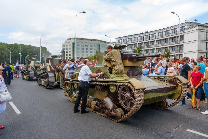 Carri armati d'annata 7TP e Renault FT fotografia stock