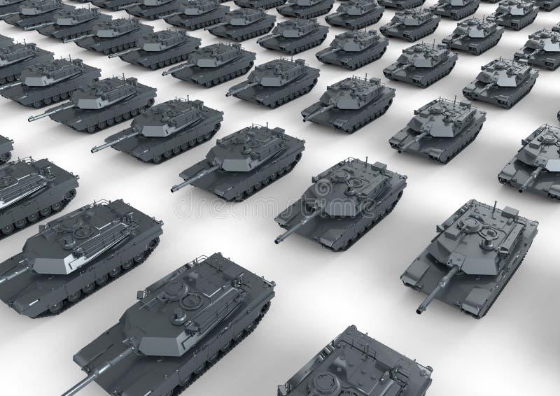 Carri armati in marcia royalty illustrazione gratis
