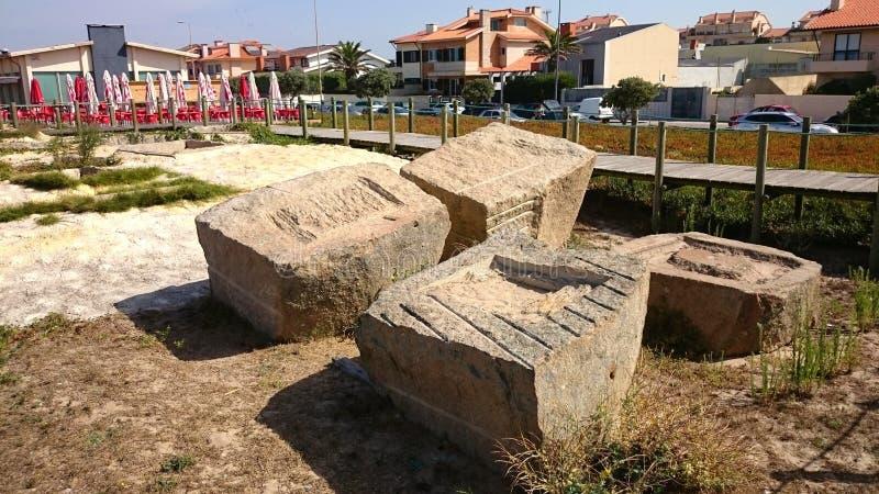 Carri armati romani per il pesce Santing in Angeiras fotografia stock libera da diritti