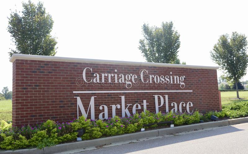 Carriage Crossing Market Place, Collierville, Tennessee royalty free stock photos