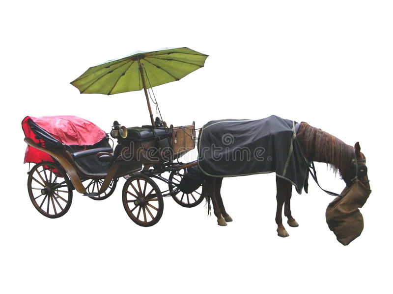 Carriage Isolated Over White Stock Photography