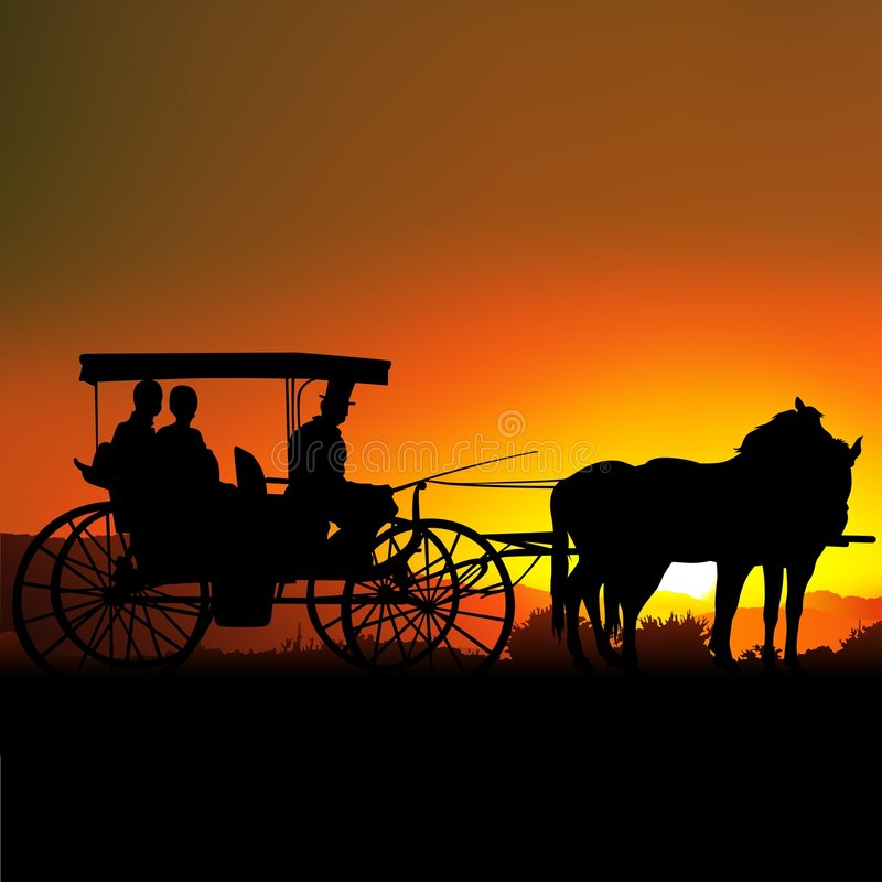 Free Carriage Silhouette A Stock Photos - 1811873