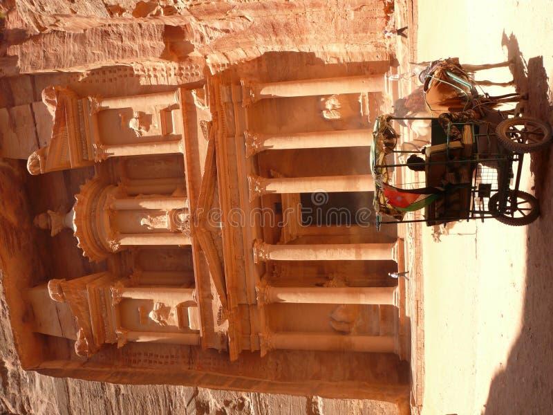 Carriage Treasury Petra Jordan stock photography