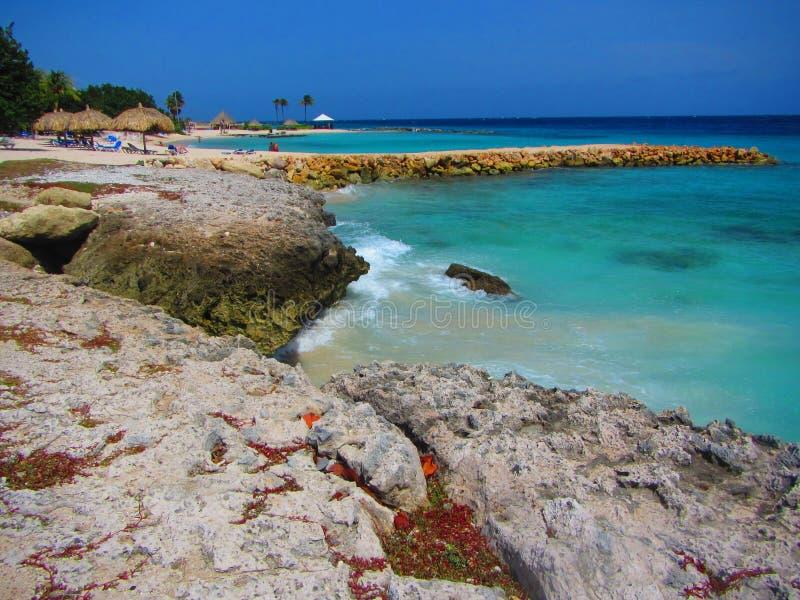 Carribean sea beach landscape stock images