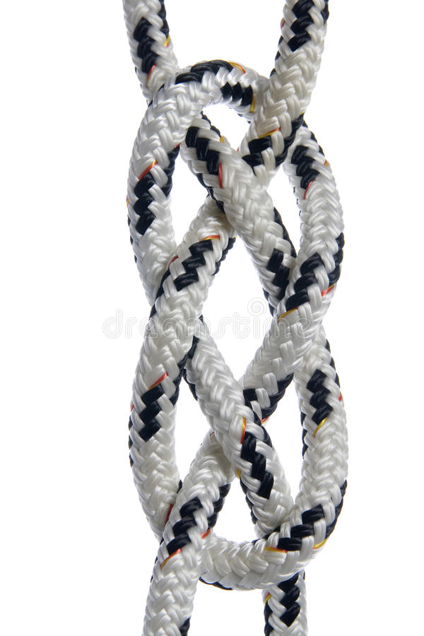 Carrick Bend-Knoten stockbilder