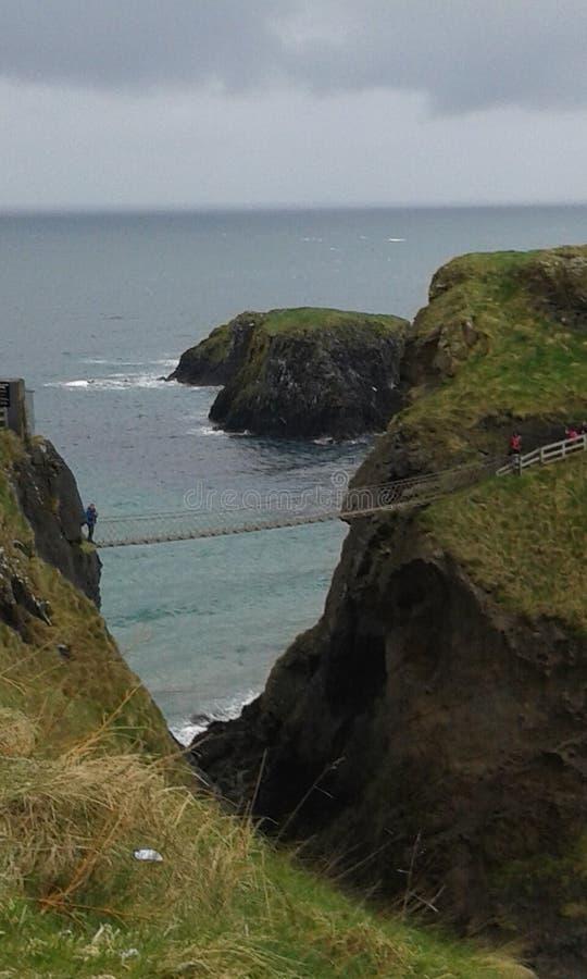 Carrick een Rede-Kabelbrug stock foto