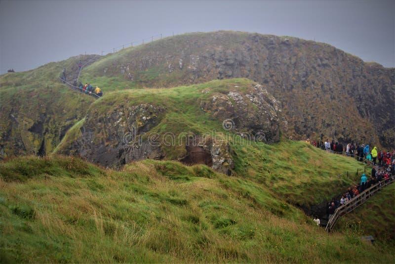 Carrick Rede在北爱尔兰 库存照片