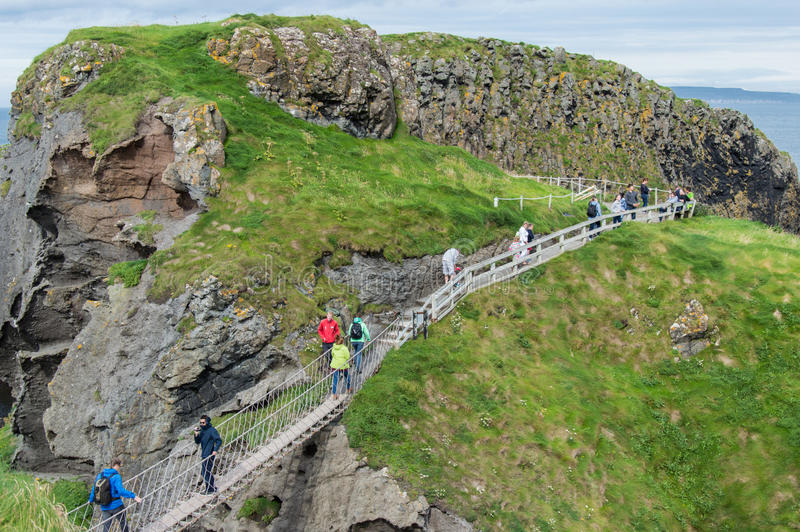 carrick rede bridge liny fotografia stock
