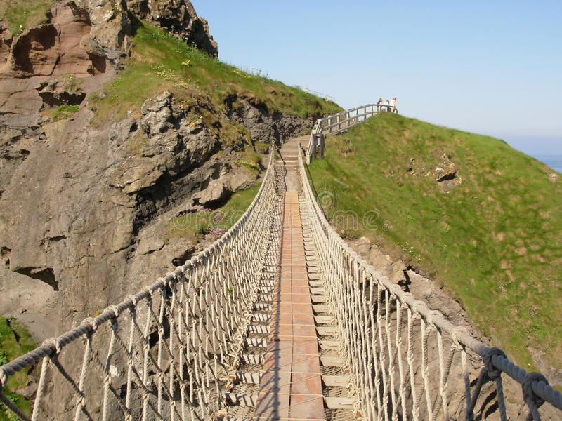 Download Carrick-a-Rede Rope Bridge stock image. Image of ireland - 18102363
