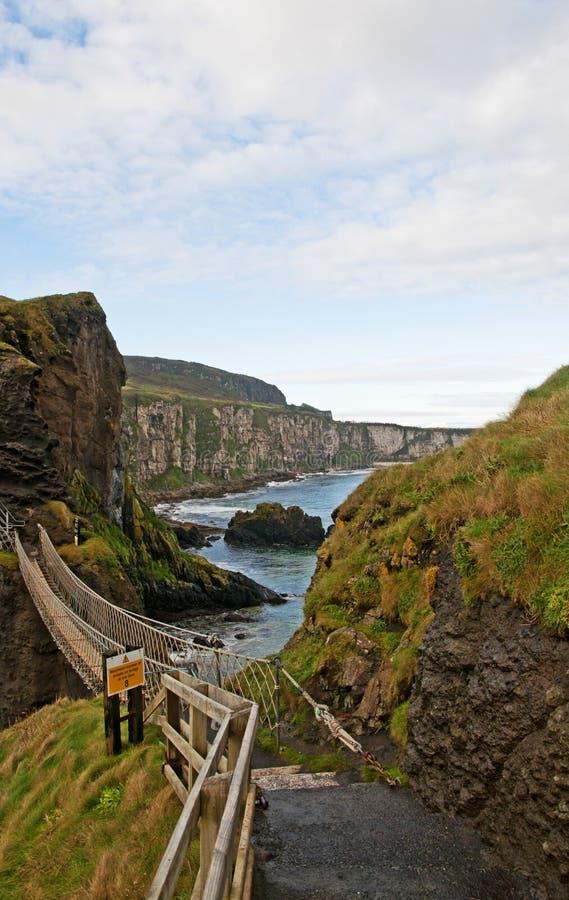 Carrick-a-Rede Rope Bridge royalty free stock photos