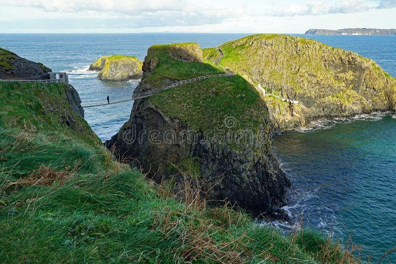 Carrick-a-rede Rope Bridge, Northern Ireland royalty free stock image