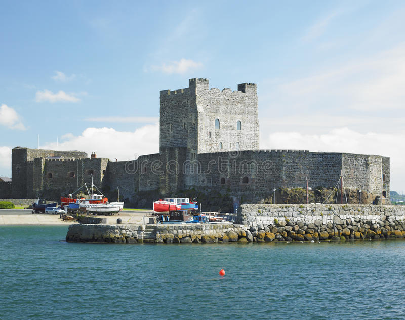 Carrickfergus Castle. In Northern Ireland royalty free stock image