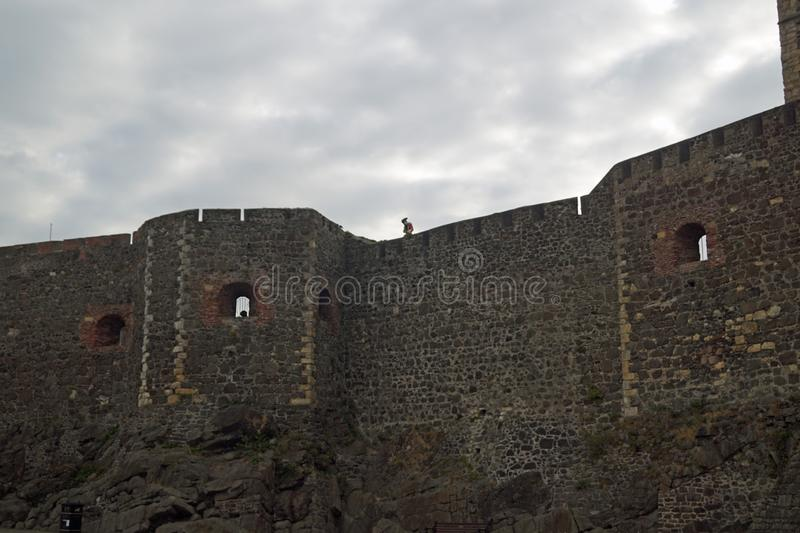 Carrickfergus Castle. Is a Norman-style castle in Carrickfergus, Northern Ireland stock photography
