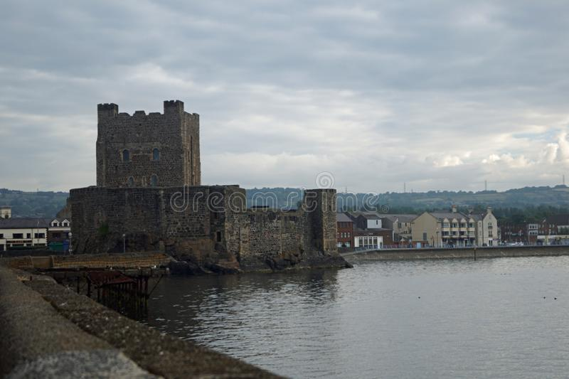 Carrickfergus Castle. Is a Norman-style castle in Carrickfergus, Northern Ireland royalty free stock image