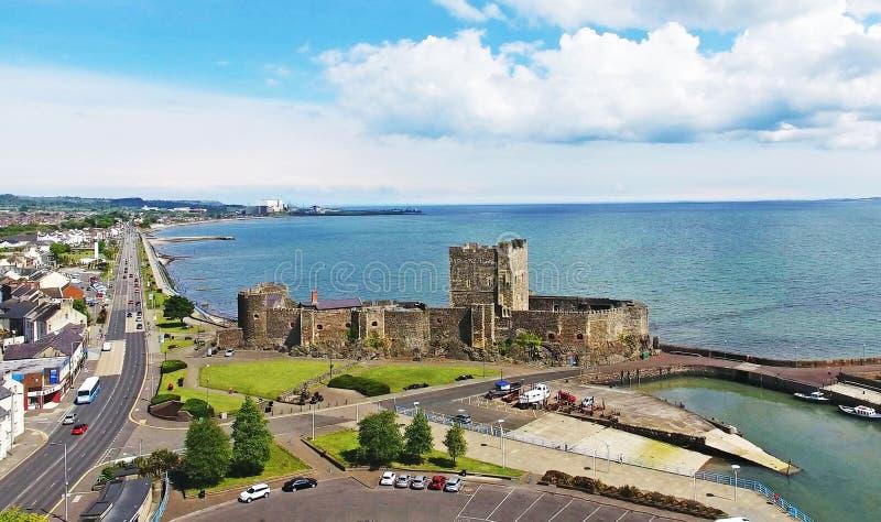 Carrickfergus slott nordliga ståndsmässiga Antrim - Irland arkivbilder