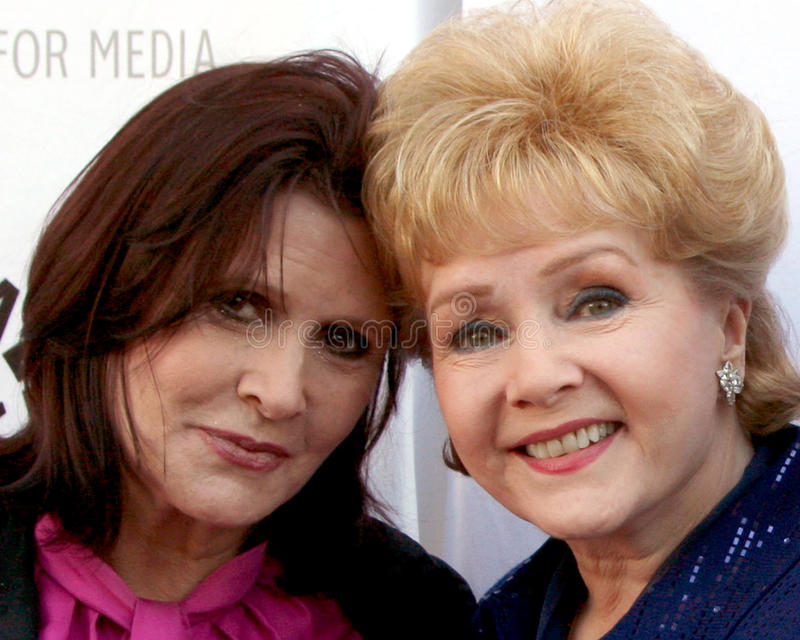 Carrie Fisher, Debbie Reynolds photographie stock
