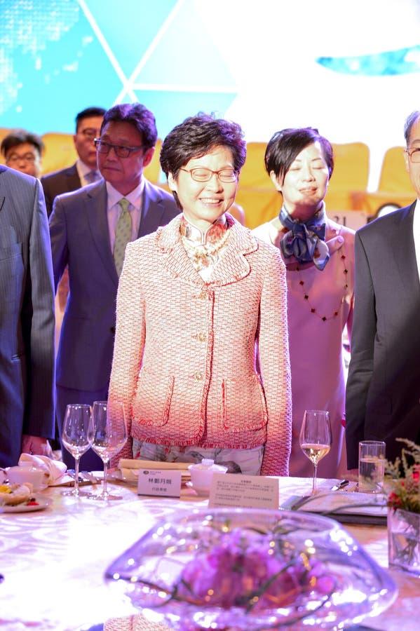 Carrie Lam Cheng-yuet-Ngor, HKSAR stock foto's