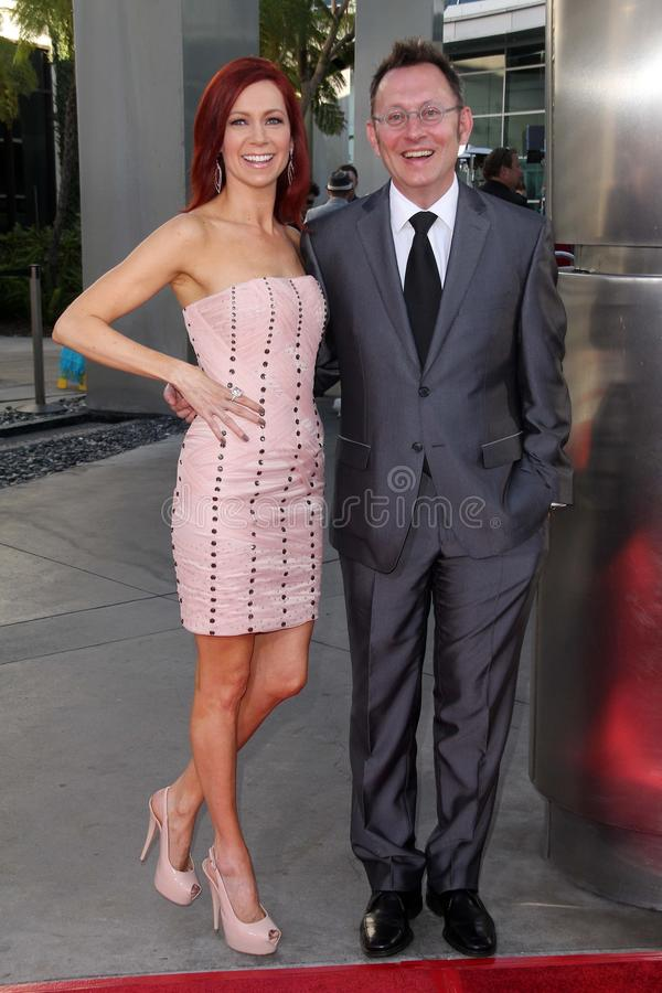 Carrie Preston, Michael Emerson immagine stock