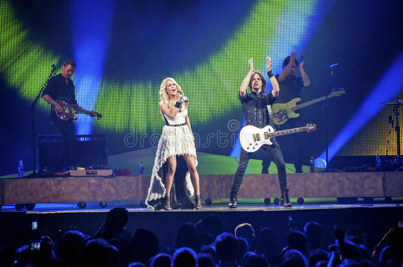 Carrie Underwood in Concert stock photography