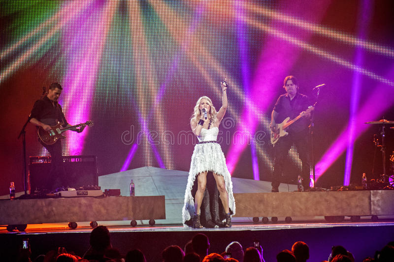 Carrie underwood in Concert stock images