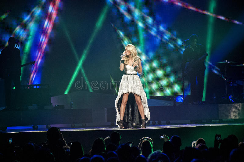 Carrie underwood in Concert royalty free stock photo