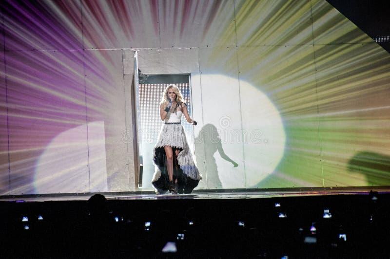 Carrie Underwood de concert photos stock