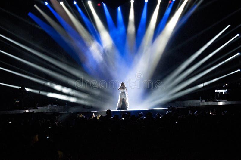 Carrie Underwood de concert photographie stock libre de droits