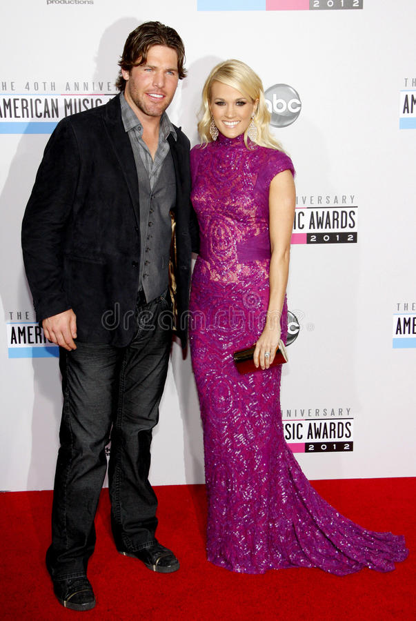 Carrie Underwood und Mike Fisher stockfoto