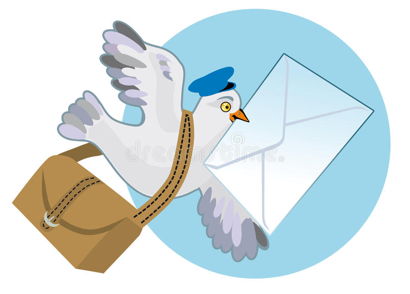 Download Carrier pigeon stock vector. Image of courier, letter - 21509496