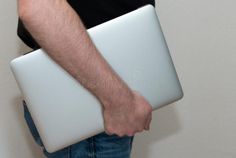Download Male Person Carrying Laptop Stock Image - Image: 39592005