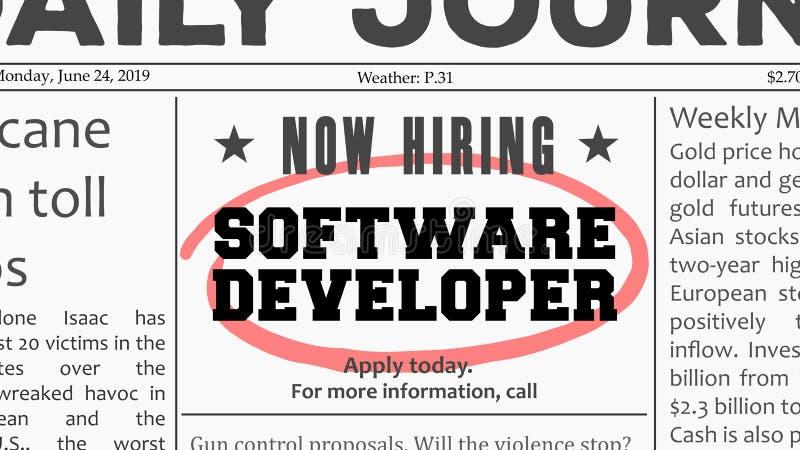 Carriera degli sviluppatori di software illustrazione di stock