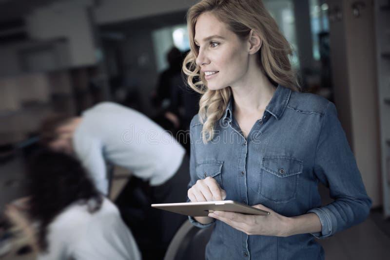Carriera della donna di affari all'ufficio di tecnologia dell'informazione fotografie stock