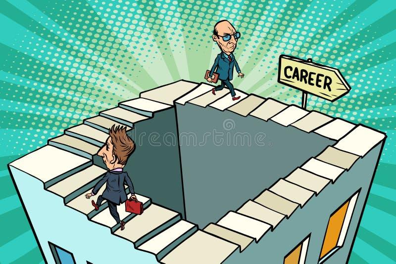 Carriera di circonduzione, concetto di affari illustrazione di stock