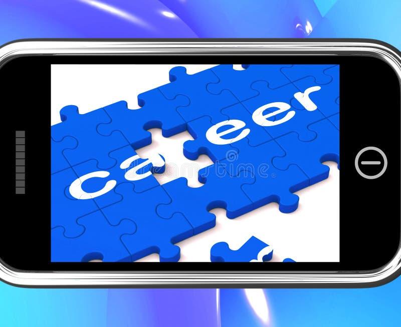 Carriera su Smartphone che mostra le opportunità professionali royalty illustrazione gratis