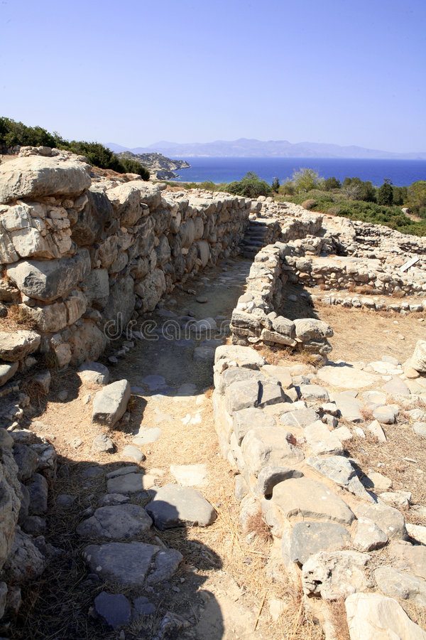 Carril de Minoan foto de archivo libre de regalías