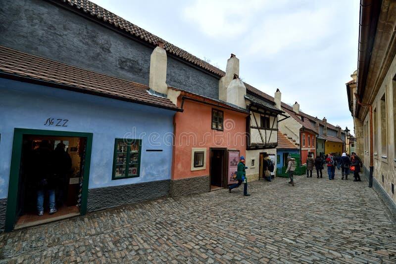 Carril de oro, Praga foto de archivo libre de regalías