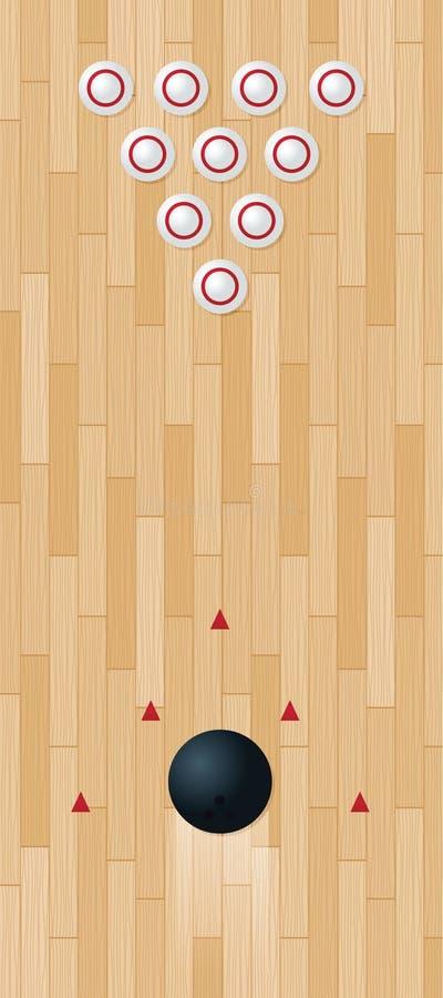 Carril del bowling ilustración del vector
