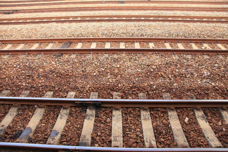 Carril del tren imagenes de archivo