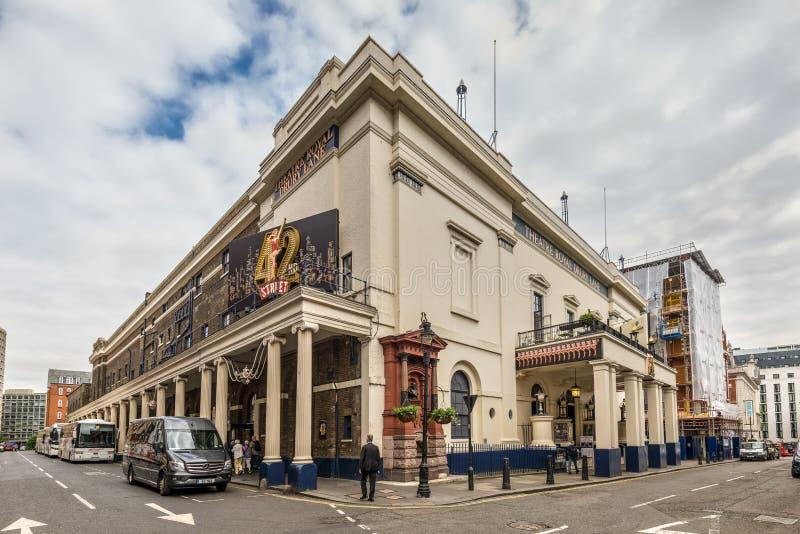 Carril real de Drury del teatro histórico en Londres, Reino Unido fotografía de archivo libre de regalías