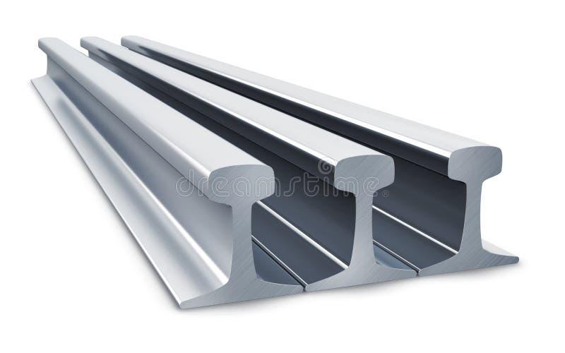 Carriles de acero stock de ilustración