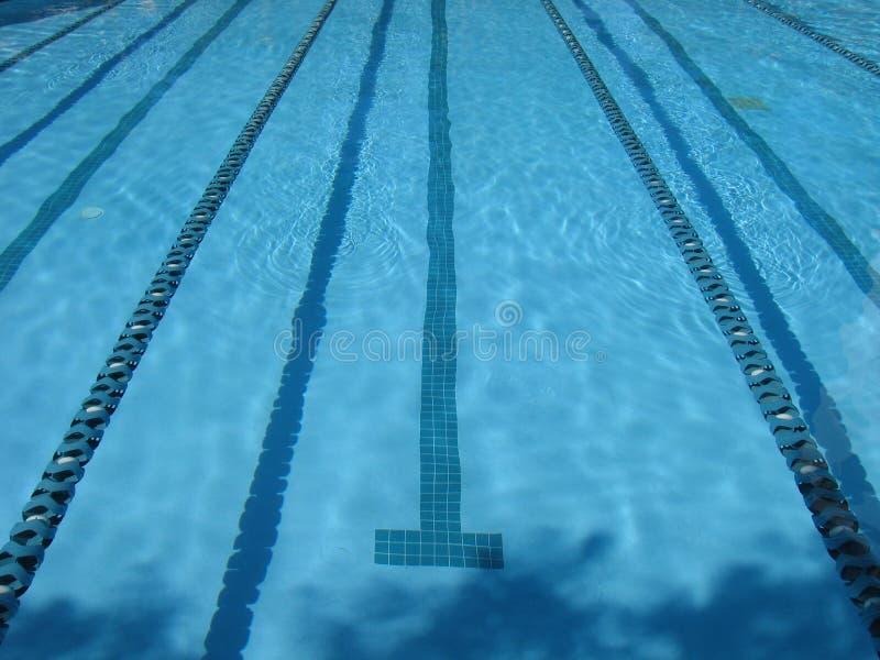Carriles del regazo de la piscina imagen de archivo