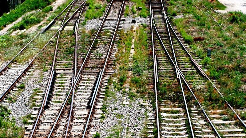 Carriles del tren fotografía de archivo libre de regalías