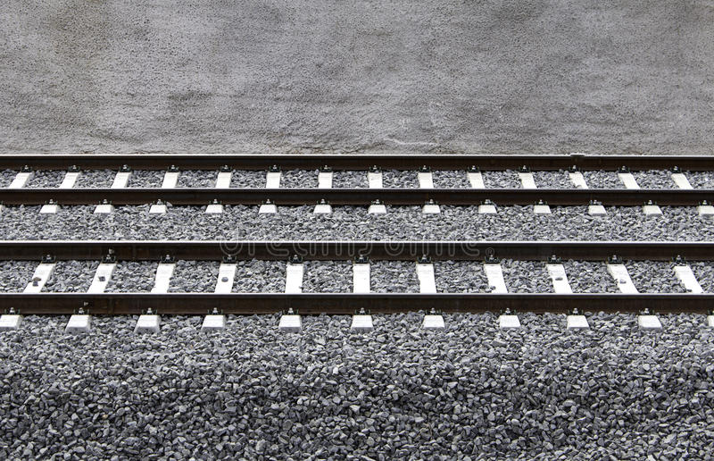 Carriles del tren foto de archivo libre de regalías