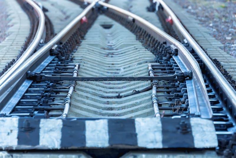 Carriles ferroviarios imagen de archivo