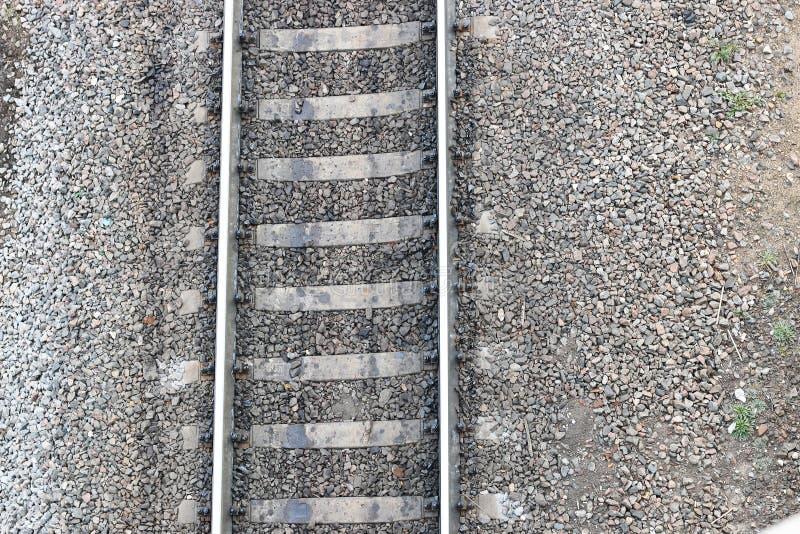 Carriles ferroviarios fotografía de archivo libre de regalías