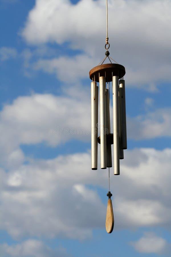 Carrilhões de vento tubulares fotografia de stock