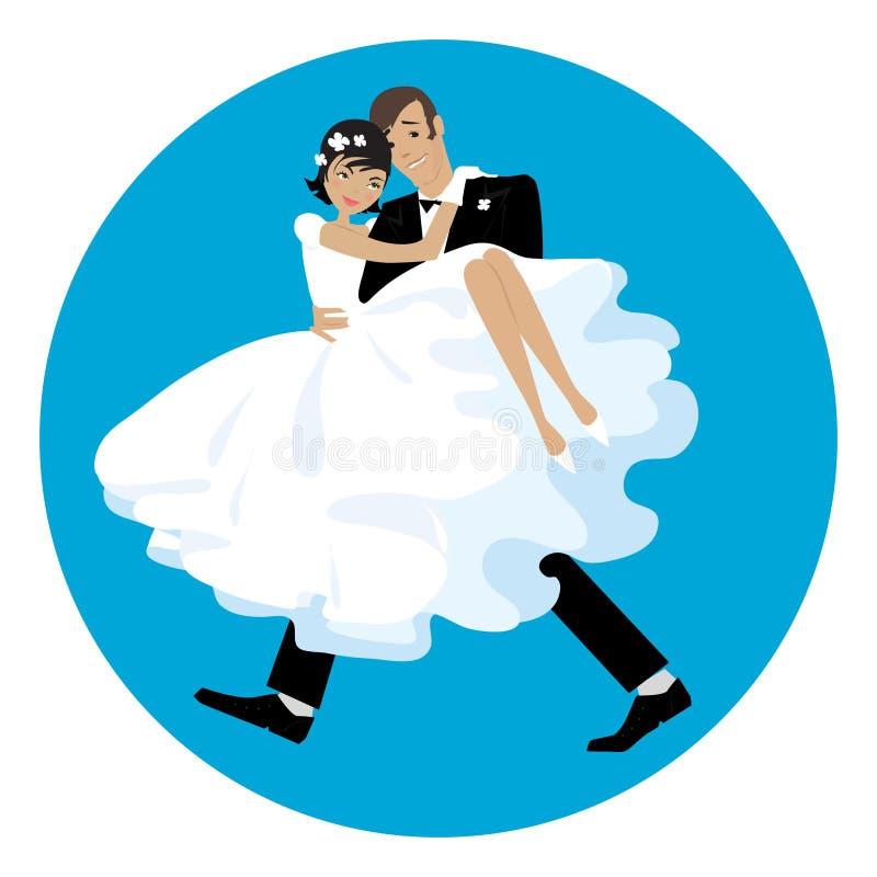 Carring la mariée illustration stock