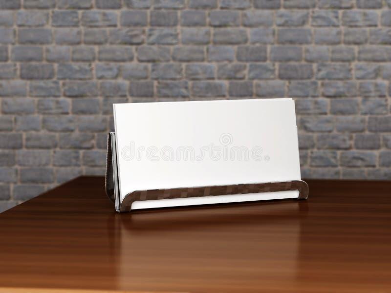 Carrinho com cartão em branco fotos de stock royalty free