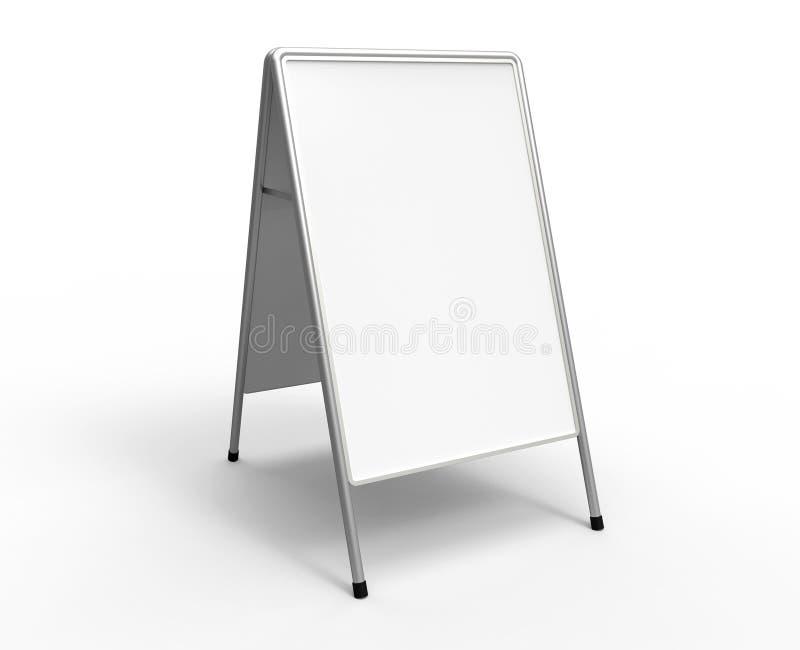 Carrinho de anúncio branco ilustração do vetor
