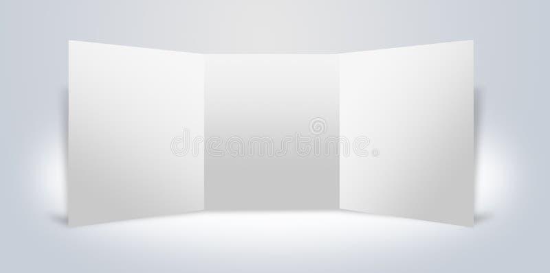 Carrinho de anúncio em branco das placas ilustração stock